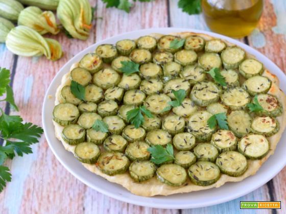 Tarte Tatin Salata di Zucchine (con brisée all'olio evo)