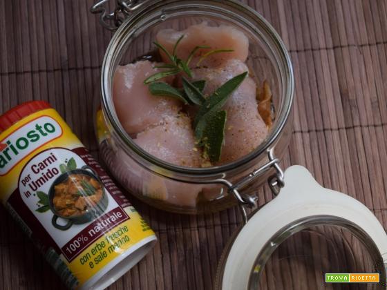 Involtini di pollo ai funghi porcini in vasocottura