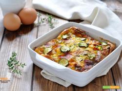 Clafoutis salato alle zucchine e speck