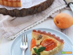 Crostata frangipane alle albicocche e pistacchi