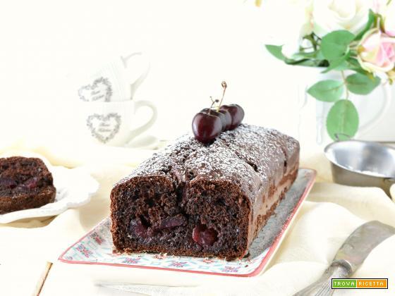 Plumcake al doppio cioccolato e ciliegie