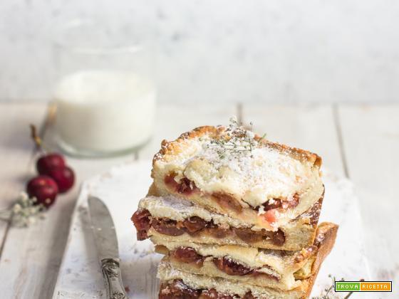 Scendiletto alle ciliegie (ricetta senza burro e latte)