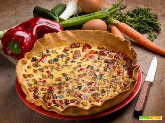 Proteggiamo i nostri occhi : Torta salata con zucchine, carote e peperoni