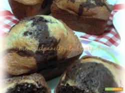 Plumcake panna e cacao
