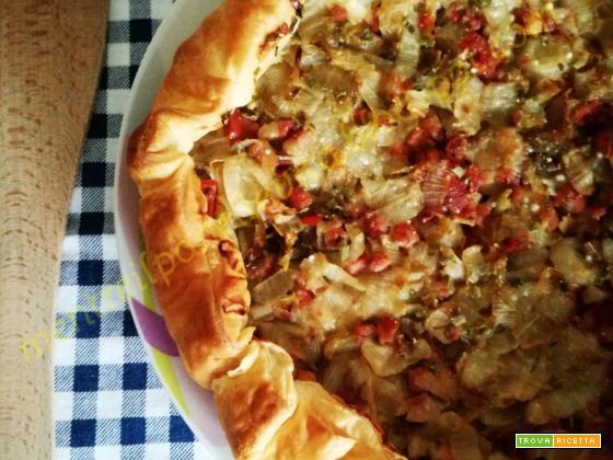 Torta salata con indivia e patate