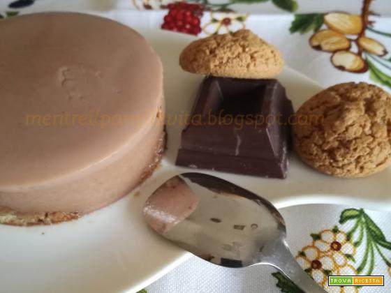 Panna cotta al cioccolato fondente