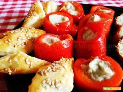 Rotolini di peperone con crema di tonno e fagioli