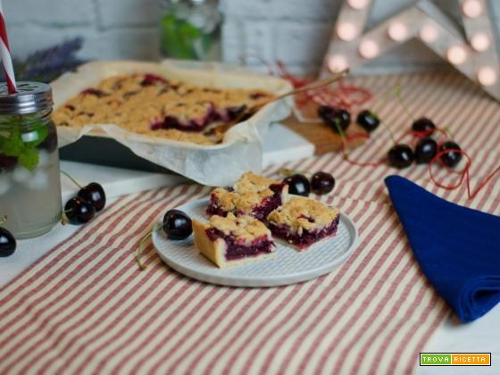 Cherry Crumble Bars, il dolcetto per il 4th of July