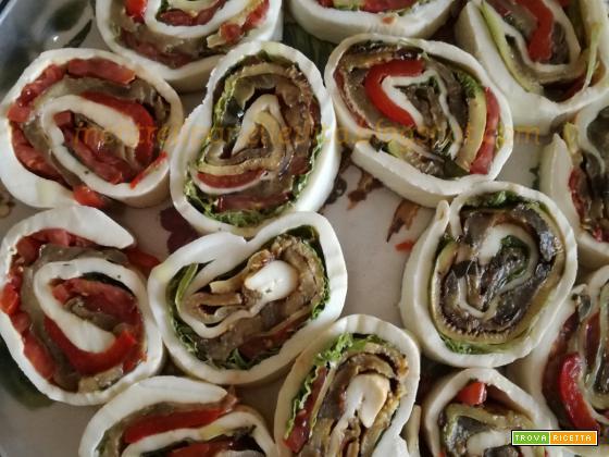 Sfoglia di mozzarella con verdure grigliate