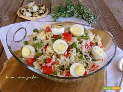 Insalata di riso basmati con uova di quaglia