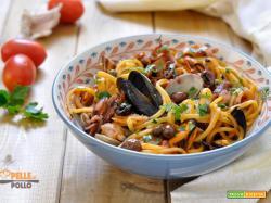 Spaghetti alla puttanesca di mare