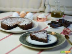 Torta tenerina all'olio per il World Chocolate Day