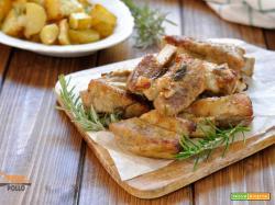 Costine di vitello al forno con patate