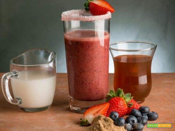Frullato di fragole e mirtilli: un concentrato di salute