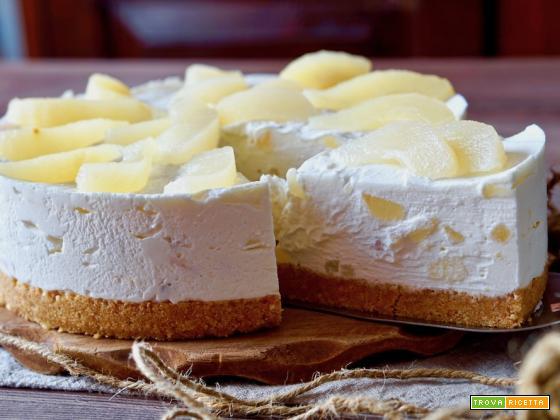 Torta Ricotta e Pere Senza Cottura