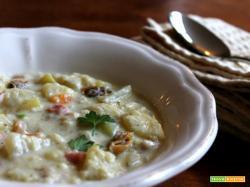 Boston clam chowder (zuppa di vongole)