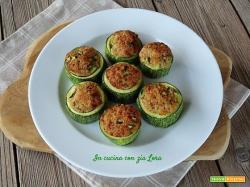 Anelli di zucchine al forno con ripieno saporito
