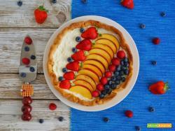 Cheesecake in cestino di pastafrolla