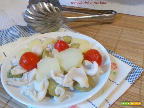 Seppie con patate pomodorini e zucchine