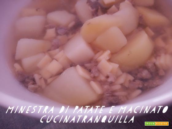 Minestra con patate e macinato