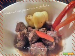 Spezzatino peperoni e patate (per forno a microonde)