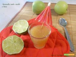 Bevanda mela verde e lime