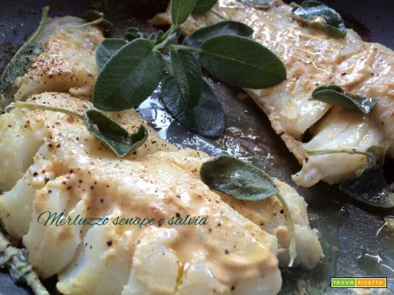 Merluzzo senape e salvia