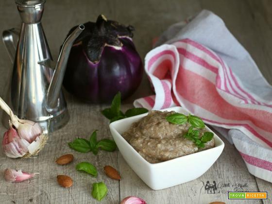 Pesto di melanzane, veloce e senza forno