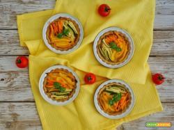 Crostatine salate con verdure