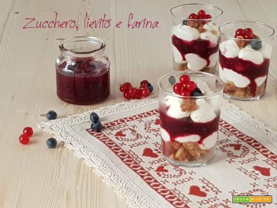 Cheesecake scomposta senza zucchero