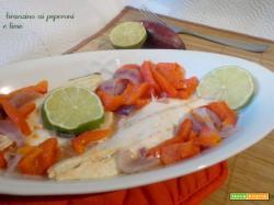 Branzino ai peperoni e lime