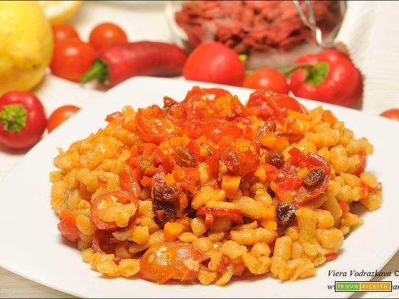 Spätzle gluten free con la farina di lenticchie