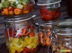 Peperoni in vasocottura al microonde