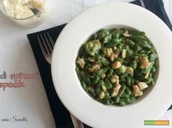 Spatzle di spinaci con speck – ricetta senza panna