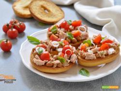 Friselle con tonno, fagioli e pomodorini