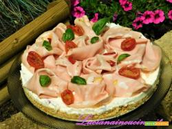 Cheesecake alla mortadella