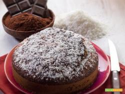 Torta al cocco e cacao da godere fino all'ultimo boccone