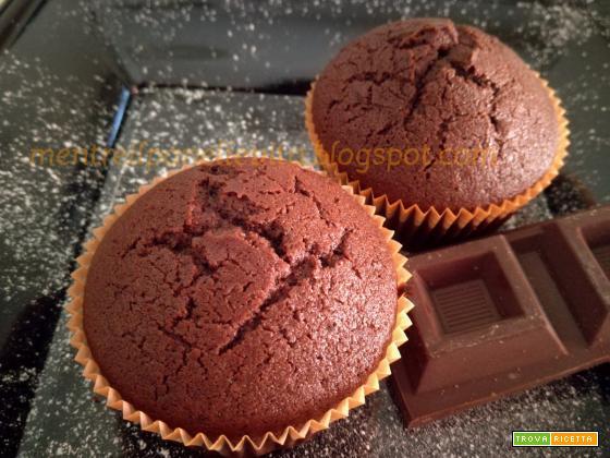 Muffins al doppio cioccolato gluten free