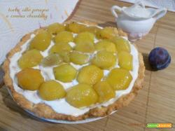 Torta alle prugne e crema chantilly