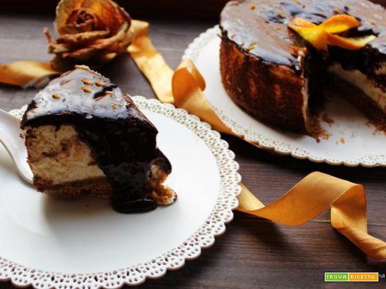 Cheesecake New-York arancia e cioccolato