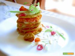 Crespelle Vegan Glutenfree di farina di ceci farcite con Besciamella vegan e Carote