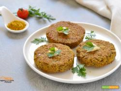 Burger di lenticchie al curry