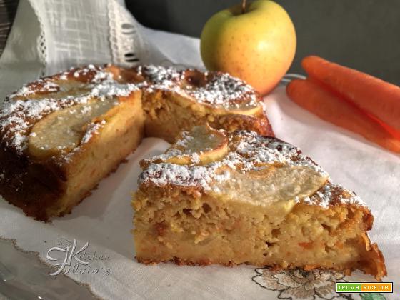 Torta light con mele, carote e formaggio spalmabile