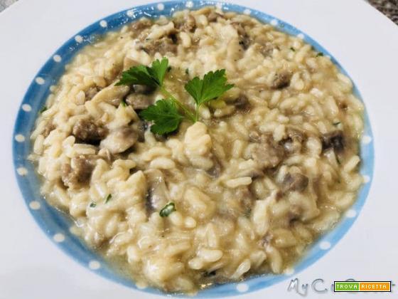 Risotto salsiccia e funghi con il CuCo Moulinex