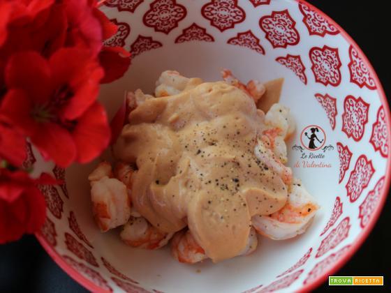 Cocktail di mazzancolle al limone, tutto con friggitrice ad aria e salsa light