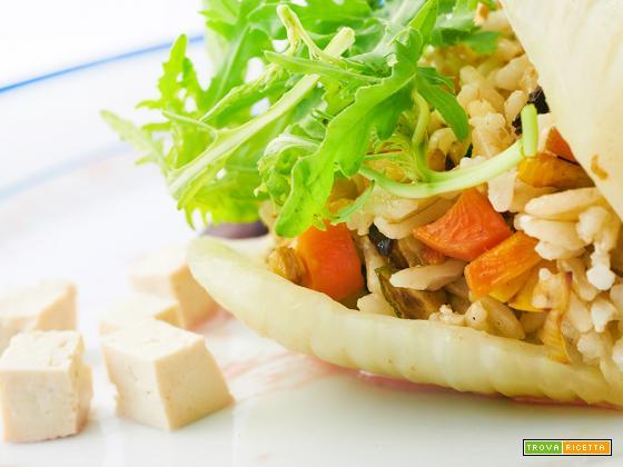 Basmati integrale con finocchi e altre verdure