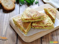 Frittata di pane e salame