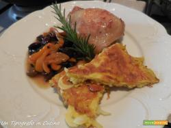Sovracosce di pollo ai peperoni, olive taggiasche e frittata di cipolla bianca…