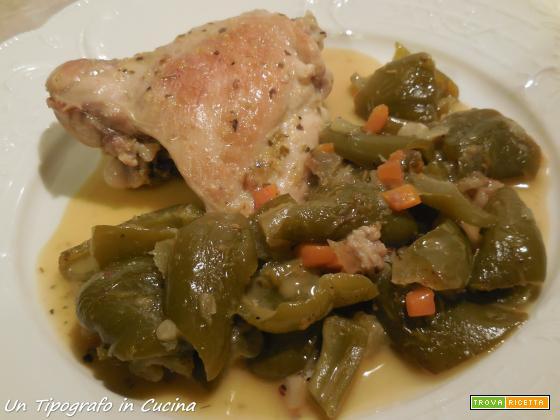Sovracosce di pollo ai peperoni verdi…