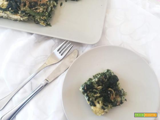 Lo sformato di zucchine e spinaci e il proclama di guerra